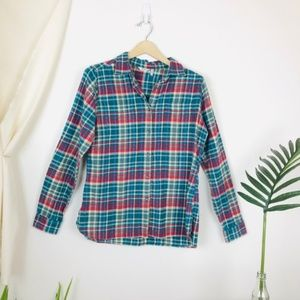 Woolrich Pemberton Plaid Button Up Flannel Shirt